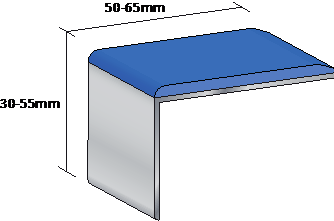 Recommended dimensions of a Stair Nosing